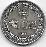 Sri Lanka - 10 Rupees - 1998 - Sri Lanka