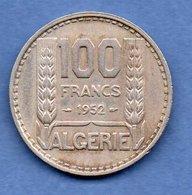 Algérie -  100  Francs 1952  -  Km # 93 -  état  TTB - Algeria