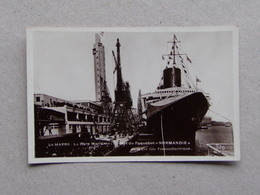 LE HAVRE Départ Du PAQUEBOT NORMANDIE Gare Maritime Compagnie Générale Transatlantique éditons Bloch Photo Tito - Paquebote