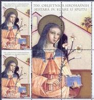 HR 2008-871 SISTERS KLARISE, CROATIA-HRVATSKA, 2 X 1v + Label, MNH - Croacia