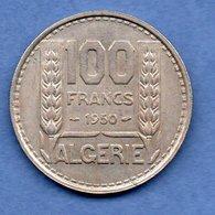 Algérie -  100  Francs 1950  -  Km # 93 -  état  TTB - Algérie