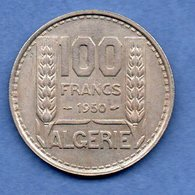 Algérie -  100  Francs 1950  -  Km # 93 -  état  TTB - Algeria