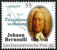 "BERNOULLI, Johann - Calculus Of Variations  - Liechtenstein 2014, MNH ** - Mathematician,  Mathematics - ""die Marke"" - Ohne Zuordnung"