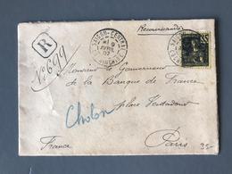 Indochine, Grasset N°33 Seul Sur Lettre Recommandée De Saigon Pour Paris - (B1714) - Indochina (1889-1945)