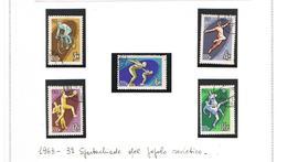 URSS - SG 2868b.2872b - 1963 PEOPLE SPARTAKIAD: SPORTS  (COMPLET SET OF 5)   - USED° - RIF. CP - 1923-1991 URSS