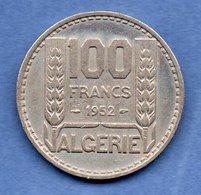 Algérie -  100  Francs 1952  -  Km # 93 -  état  TTB - Algérie