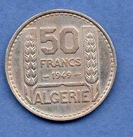 Algérie - 50  Francs 1949 -  Km # 92 -  état  TTB - Algeria