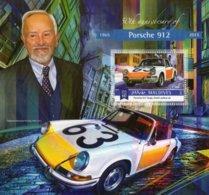 50th Anniversary Porsche 912  -  Ferdinand Porsche - Porsche 912 Targa Police - Maldives 2015 1v  Sheet MNH/Neuf/Mint - Voitures