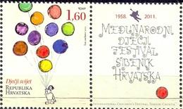 HR 2011-0971 INTERNATIONAL CHILDREN FEST, HRVATSKA-CROATIA, 1 X 1v + Label, MNH - Croatie