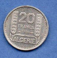 Algérie - 20  Francs 1956 -  Km # 91 -  état  SUP - Algeria