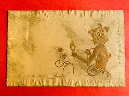 1901 - RELIEF - GAUFREE - M.M. VIENNE - ART NOUVEAU - FEMME - DAME - VANITY - IJDELHEID - Vienne