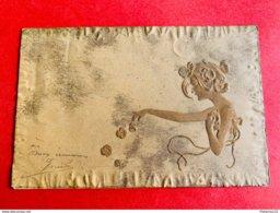 1901 - RELIEF - GAUFREE - M.M. VIENNE - ART NOUVEAU - FEMME - DAME - BLOEMEN - FLEURS - Vienne