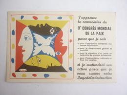 ILLUSTRATEUR PICASSO 3e CONGRES MONDIAL DE LA PAIX - Picasso