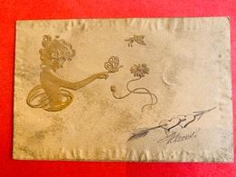 1901 - RELIEF - GAUFREE - M.M. VIENNE - ART NOUVEAU - FEMME - DAME - PAPILLONS - VLINDERS - Vienne