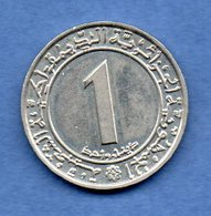 Algérie -1 Dinar 1983 -  Km # 112 -  état  TTB - Algeria