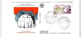 FDC TAAF PA 102 Dumont D'Urville Terre Adélie 10 12 87  40eme Anniversaire Expéditions Polaires. - FDC