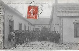 Carte Postale - Sortie Des Ouvriers - Usine BELOT à St FLORENT (18) - 1909 - - Saint-Florent-sur-Cher