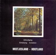 Brochure  Toerisme Tourisme - Meetjesland , Houtland - Dépliants Touristiques