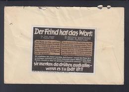 Dt. Reich Brief Möhringen 1940 Vignette Dar Feind Hat Das Wort - Brieven En Documenten