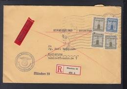 Dt. Reich Brief 1939 Reichsleitung Der NSDAP München Nach Karlsruhe - Officials