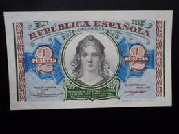 ESPAGNE : 2 PESETAS  (emissión) 1938      CM 420 * / CB 37 ** / P 95      NEUF - [ 2] 1931-1936 : Repubblica