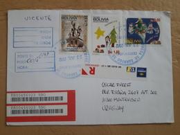 Enveloppe De La Bolivie Distribuée En 2012 Avec Timbre De Noël Et Autres - Bolivie