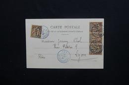 """MADAGASCAR - Oblitération """" 20 Madagascar """" Sur Type Groupe Sur Carte Postale En 1904 Pour Lyon - L 48263 - Madagascar (1889-1960)"""