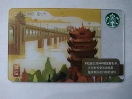 China Gift Cards, Starbucks, 200 RMB, Wuhan , 2018 ,(1pcs) - Gift Cards