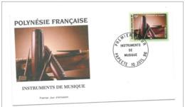 FDC Polynésie  N° 514   Instruments De Musique 10 07 1996. - FDC