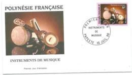FDC Polynésie  N°  513 Instruments De Musique 10 07 1996. - FDC