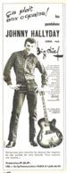 "PUB PANTALON "" JOHNNY HALLYDAY  ""  1962 ( 2 ) - Advertising"