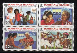 1107 490 - MARSHALL 1985 , Serie Yvert N. 88/91  *** (2380A) Gioventù - Marshalleilanden