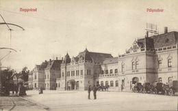 Romania, ORADEA NAGYVARAD, Gara, Palyaudvar, Railway Station (1910s) Postcard - Roemenië