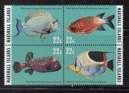 1108 490 - MARSHALL 1985 , Serie Yvert N. 92/95  *** (2380A) Pesci Fish - Marshalleilanden