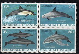 1109 490 - MARSHALL 1984 , Serie Yvert N. 55/58  *** (2380A) Pesci Fish - Marshalleilanden