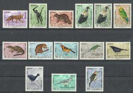 EL SALVADOR  1963   BIRDS,ANIMALS  COMPLETE  SET  MNH - Non Classés