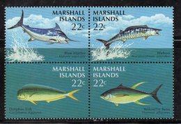 1110 490 - MARSHALL 1986 , Serie Yvert N. 124/127  *** (2380A) Pesci Fish - Marshalleilanden