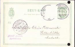 Dänemark Denmark Danemark - Postkarte (MiNr: P 28) 1888  - Gebraucht - Interi Postali