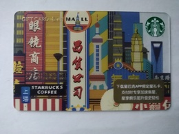 China Gift Cards, Starbucks, 100 RMB, Shanghai , 2018 ,(1pcs) - Gift Cards
