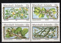1112 490 - MARSHALL 1985 , Serie Yvert N. 105/108  *** (2380A)  Fiori - Marshalleilanden