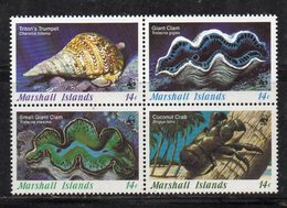 1113 490 - MARSHALL 1986 , Serie Yvert N. 111/114  *** (2380A)  Conchiglie Coquillage - Marshalleilanden