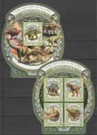ML641 2016 MALDIVES ANIMALS DINOSAURS 1KB+1BL MNH - Postzegels