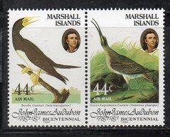 1103 490 - MARSHALL 1985 , Posta Aerea Serie Yvert N. 1/2  *** (2380A) Audubon - Marshalleilanden