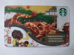 China Gift Cards, Starbucks, 100 RMB,china , 2018 ,(1pcs) - Gift Cards
