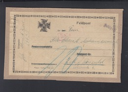 Dt. Reich Feldpost Päckchen-Abschnitt 29635 Nachporto - Briefe U. Dokumente