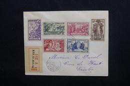 GUADELOUPE - Enveloppe En Recommandé De Terre De Bas Pour La France En 1937, Affranchissement Série Exposition - L 48277 - Lettres & Documents