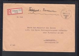 Dt. Reich Feldpost R-Brief 1940 AOK 7 U. Geheime Feldpolizei 550 - Duitsland