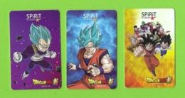 3 Carte Cadeau  SPIRIT -  Dragon Ball.   Mangas.   Gift Card.    Geschenkkarte. - Gift Cards