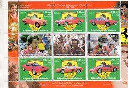 100eme Anniversaire De La Naissance D'ENZO FERRARI  -  Guinée 1998 9v  Sheet MNH/Neuf/Mint - Voitures