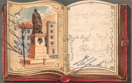 SALZBURG  AUSTRIA~MOZART DENKMAL~AUTOGRAPH BOOK~1901 POSTCARD 42574 - Österreich